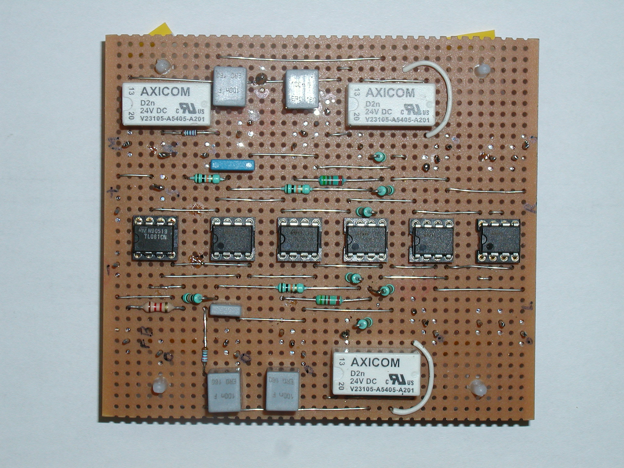 The Stripboard Layoutof The Current Limiting Bench Power Supply Unit